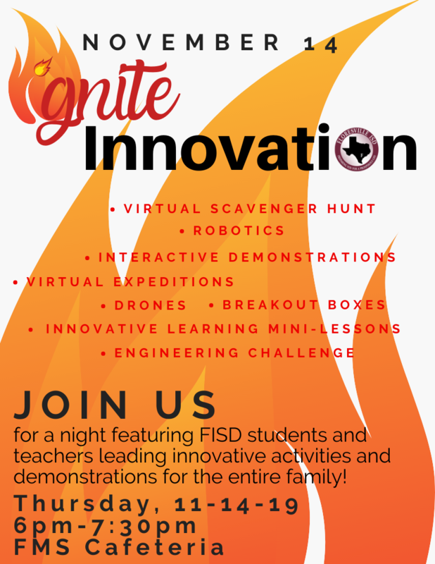 Flyer for Ignite Innovation Night on November 14 at 6pm