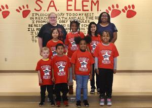 students of the month-elementary