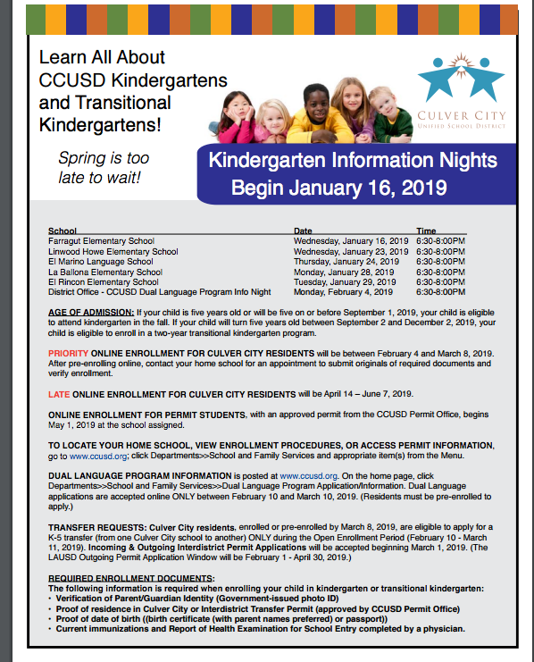 Kindergarten Information Featured Photo