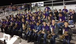 The Rio Band played with the VHS band for Friday night football!