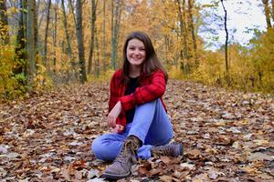 TKHS senior Ellie Essenberg earns OM scholarship.