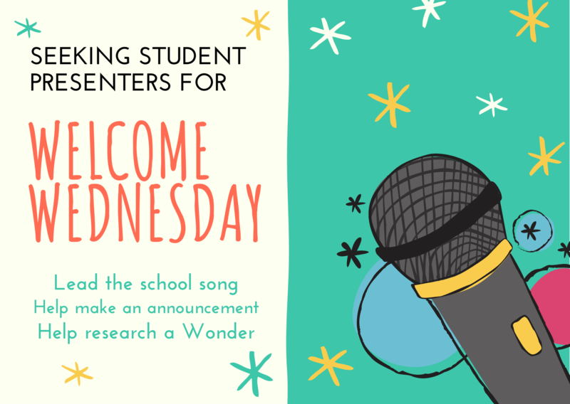 Seeking Welcome Wednesday Student Presenters Featured Photo