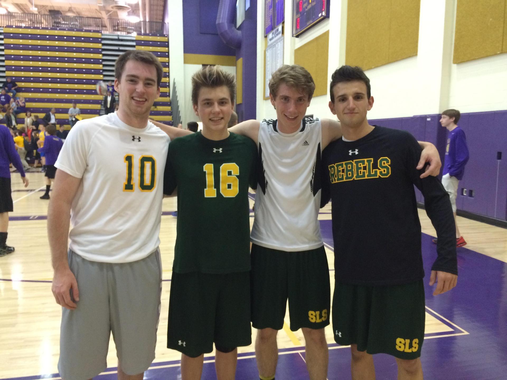 boys volleyball friends