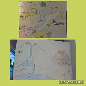 landforms and bodies drawing collage