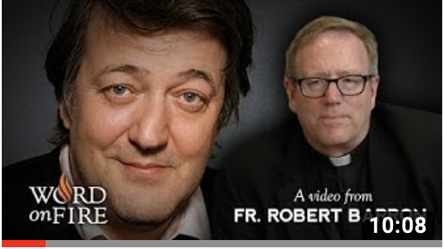 Bishop Barron comments on Stephen Fry, Job and Suffering