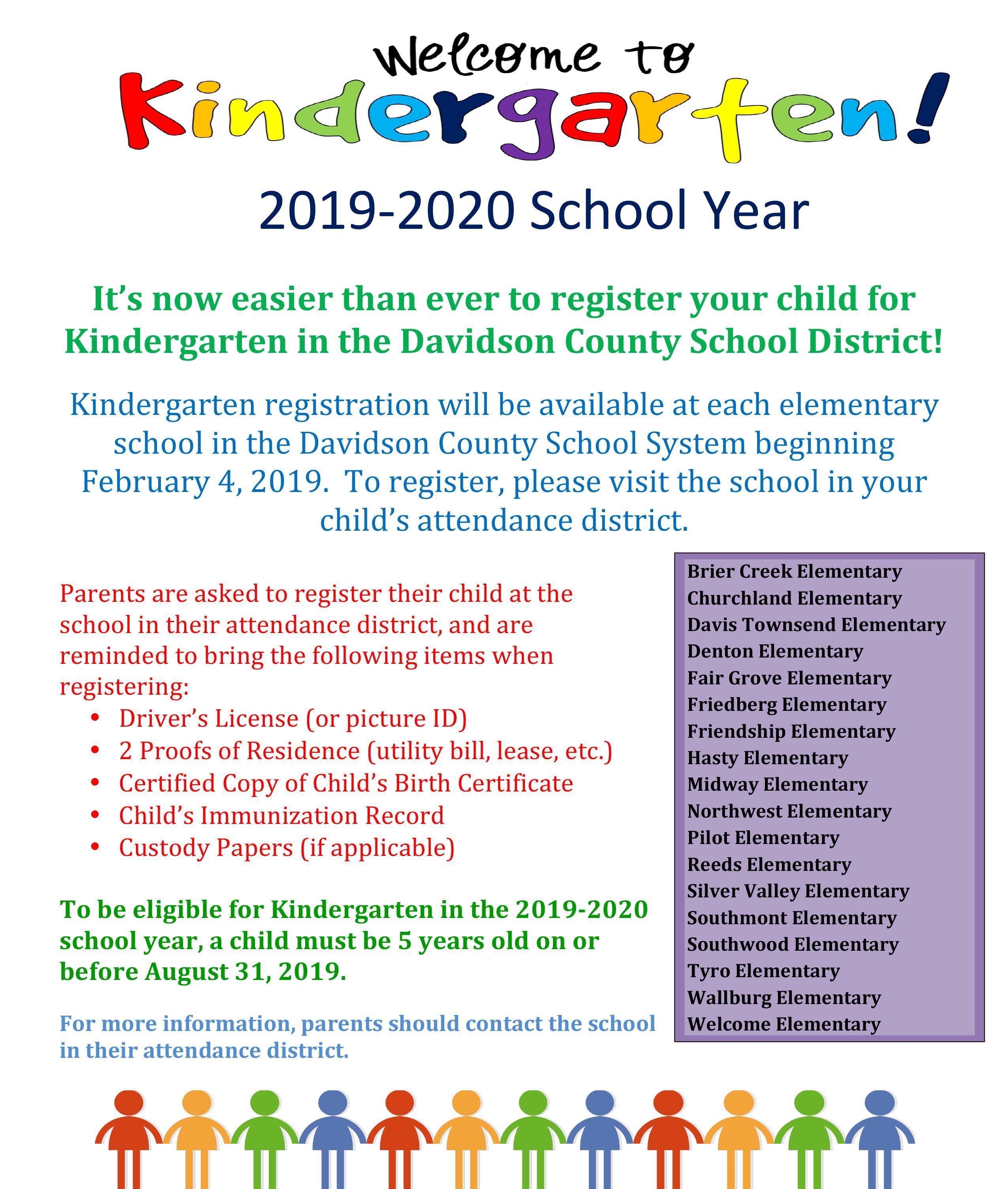 Welcome to Kindergarten Registration 2019