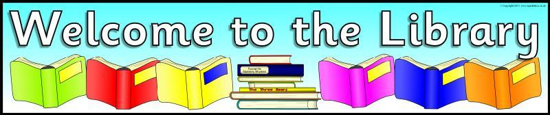 clipart of welcome to library