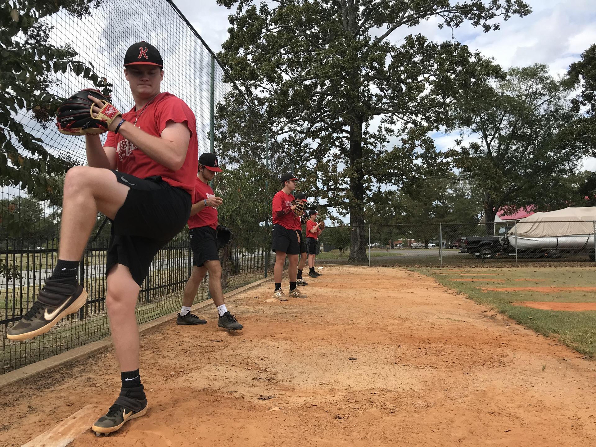 West Lauderdale High School baseball practice