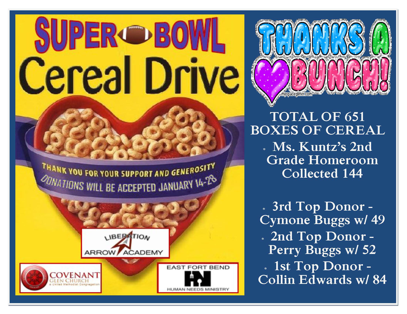 Super Bowl Cereal Drive Update Featured Photo