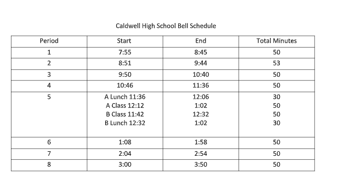HS Bell Schedule