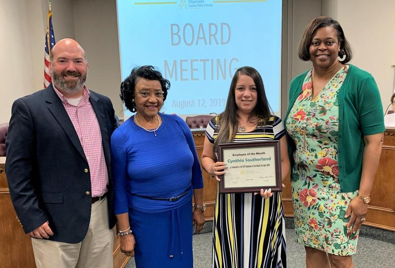 Southerland recognized as ECPS Employee of the Month Featured Photo