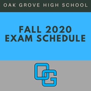 Fall Exam Schedules Image