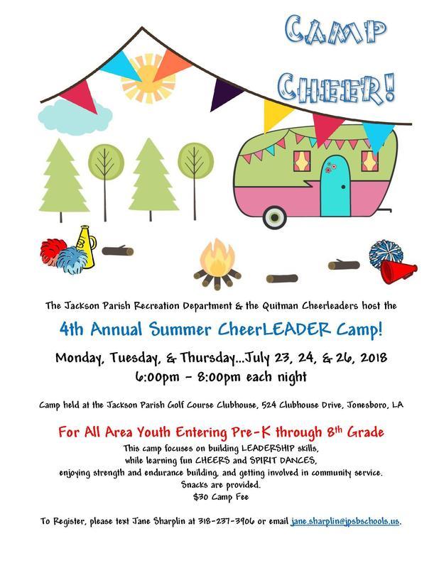 4th Annual Summer CheerLEADER Camp! Thumbnail Image