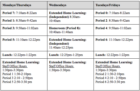 REVISED 2ND SEMESTER BELL SCHEDULE Image