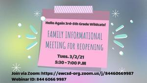 Family Information Night