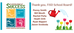 School Board Appreciation Month Logo