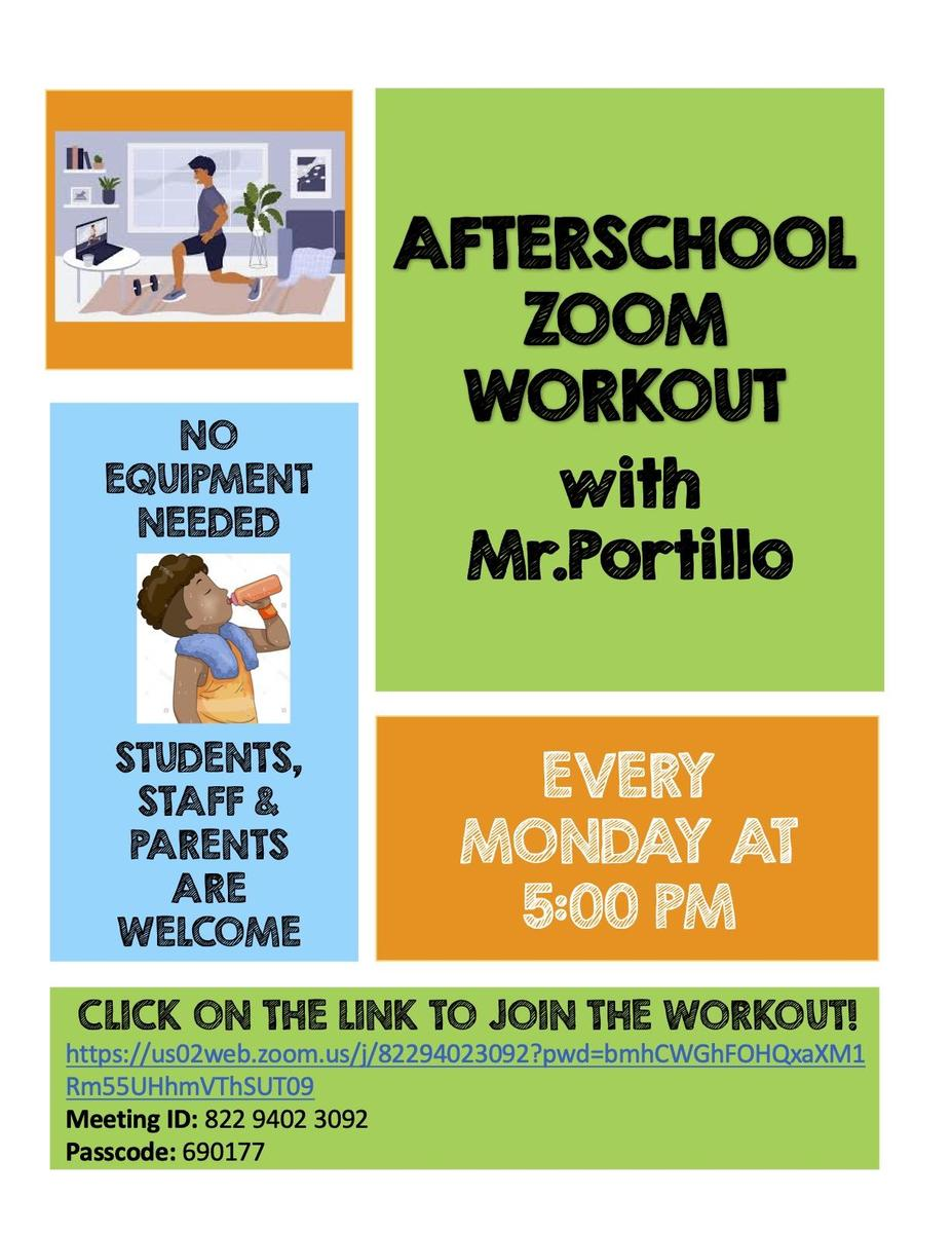 Zoom Workout with Mr. Portillo Information