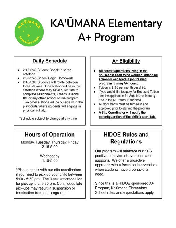 KES After-School Program Information