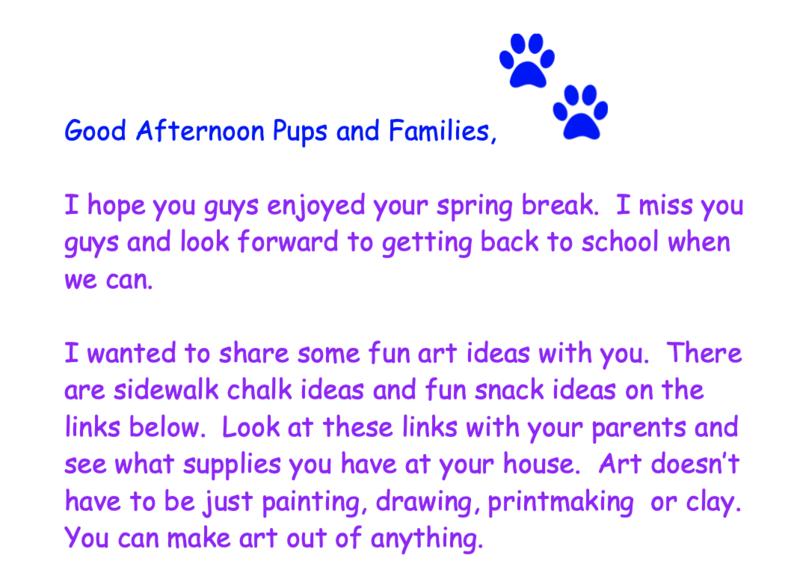 Letter from art teacher