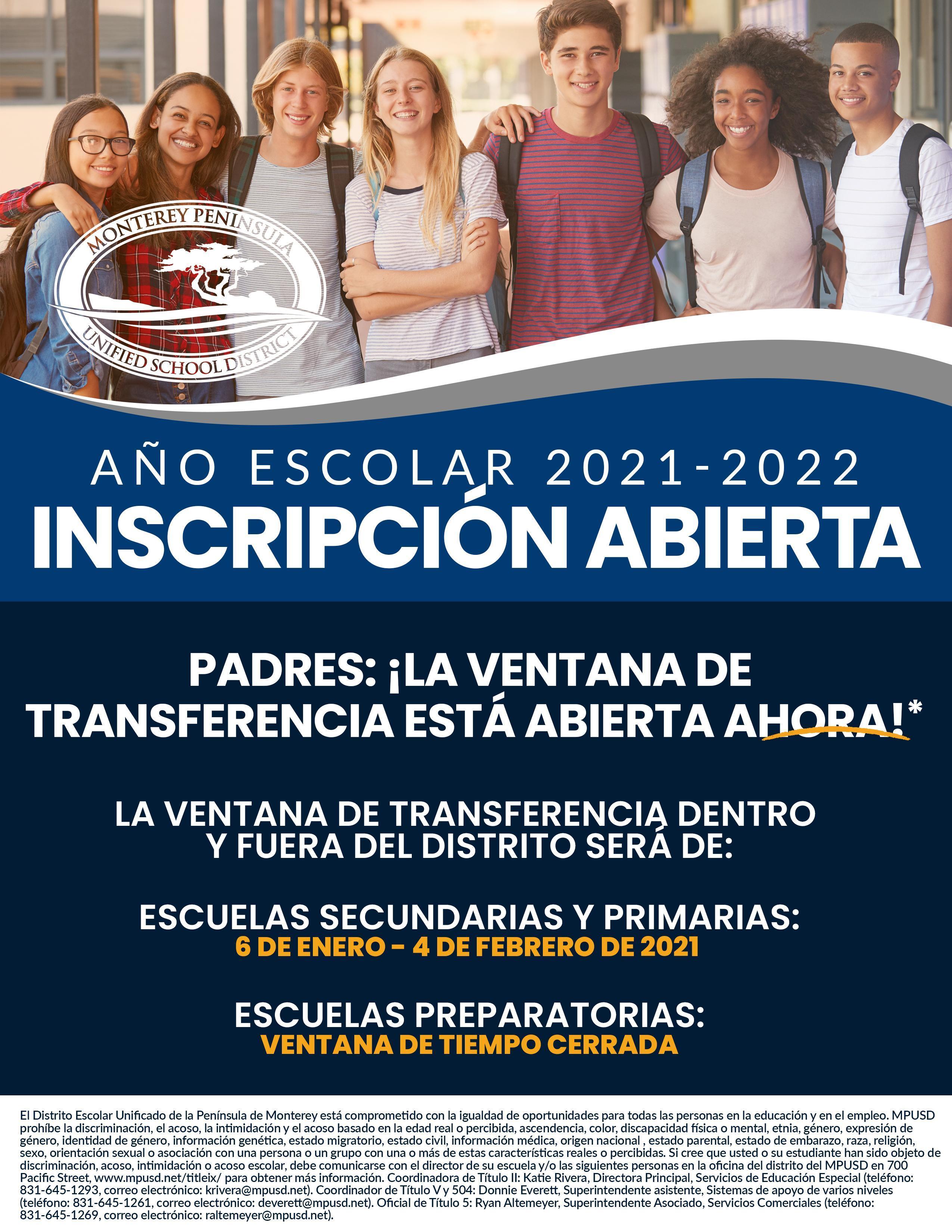 Spanish Open Enrollment Flyer