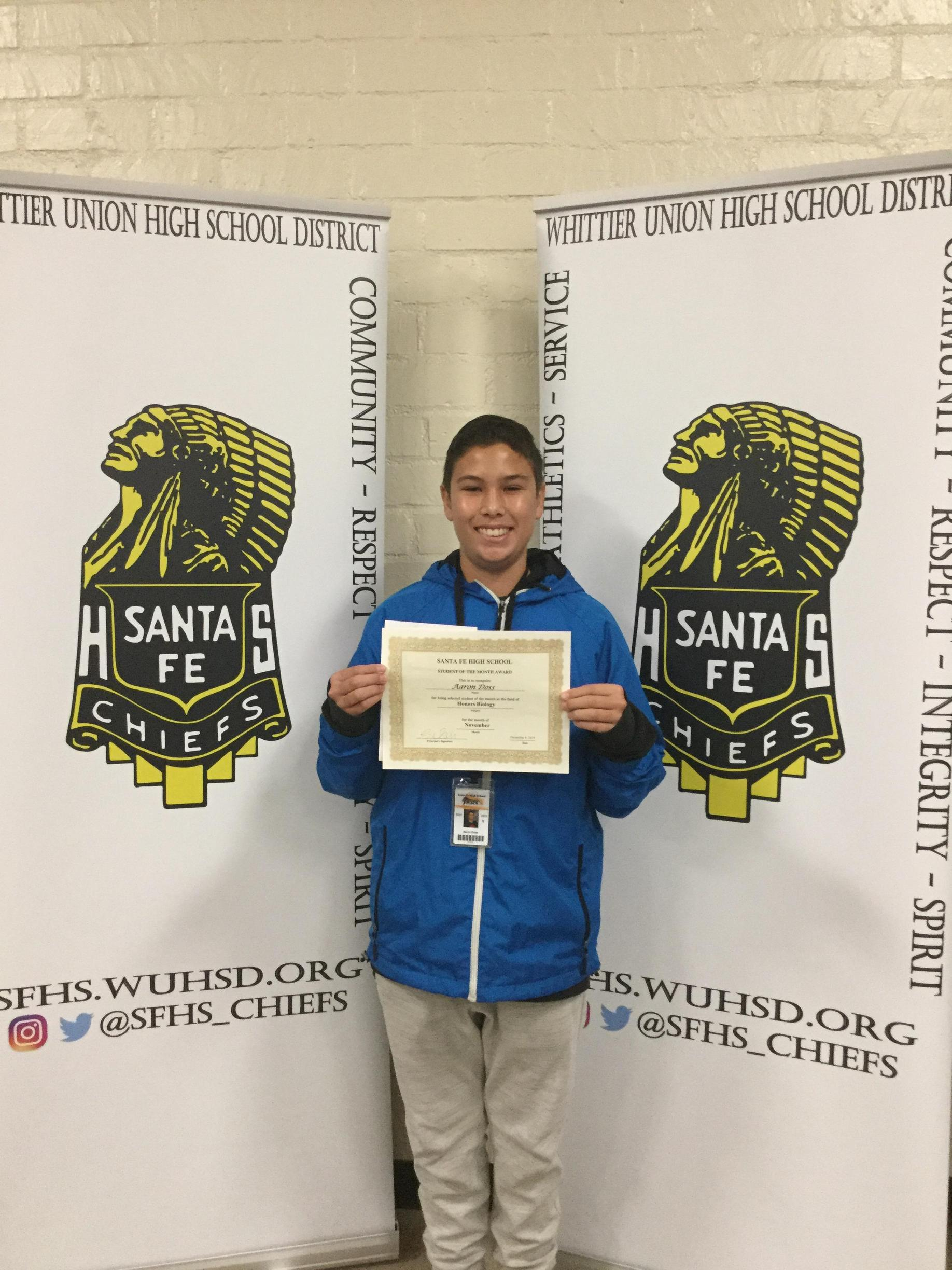 November Student of the Month Photo