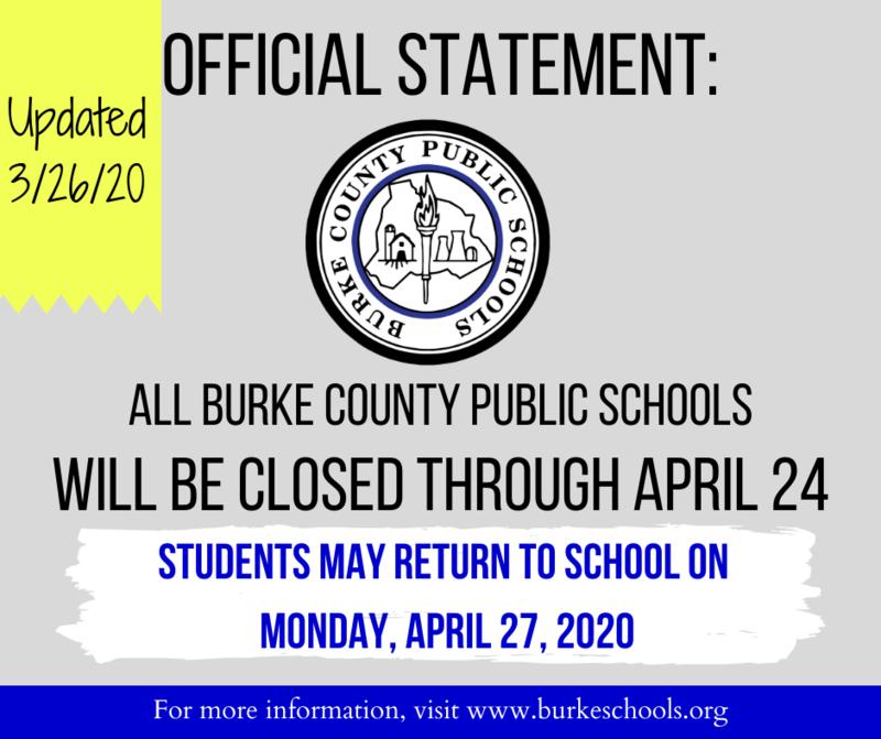 official school closure announcement