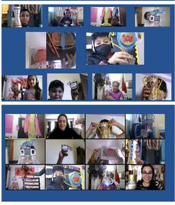 Zoom class collage