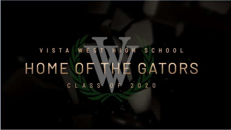 Stream Vista West's Senior Celebration Class of 2020 now! Thumbnail Image