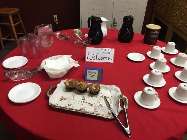 Coffee with the Principal Table