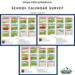 School Calendar survey graphic