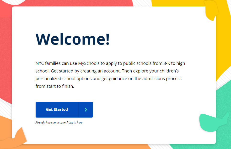 WELCOME TO myschools TO CREATE AN ACCOUNT
