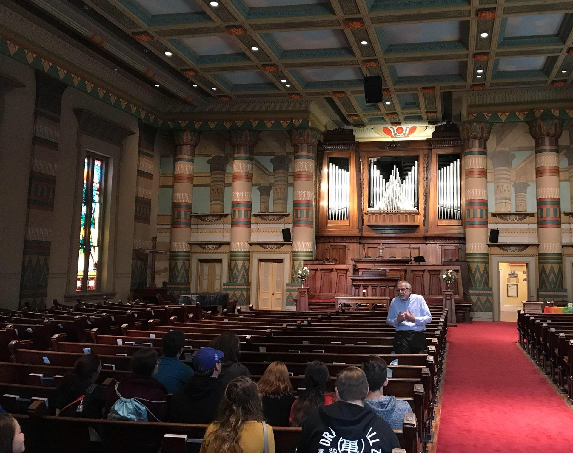 SCHS Timothy Club and Bible Class visiting Downtown Presbyterian Church and Congregation Sherith Israel, Nov 2017