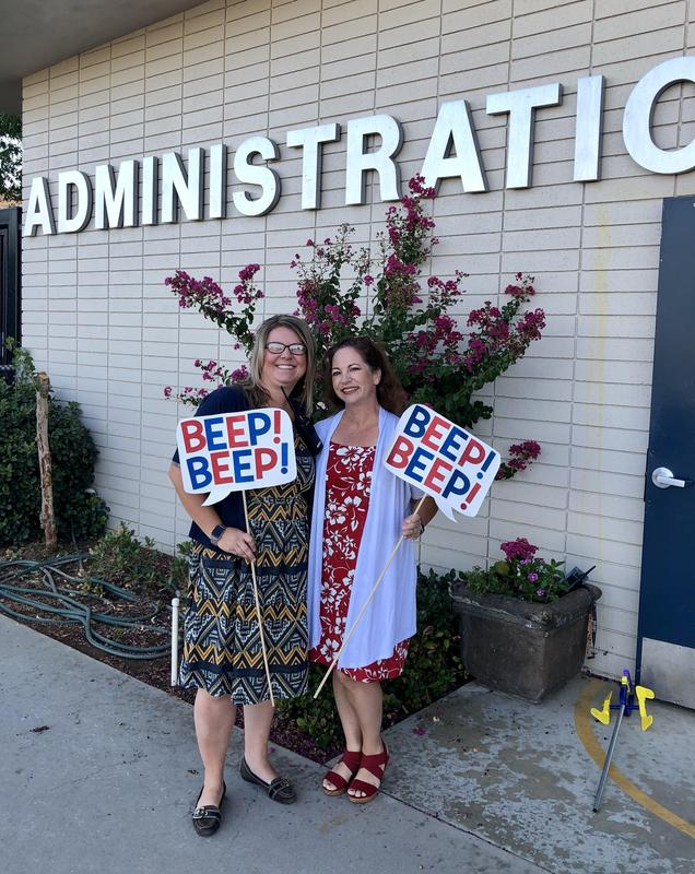 Vice Principal Mrs. Woodard (left) and Principal Mrs. Fleming (right)