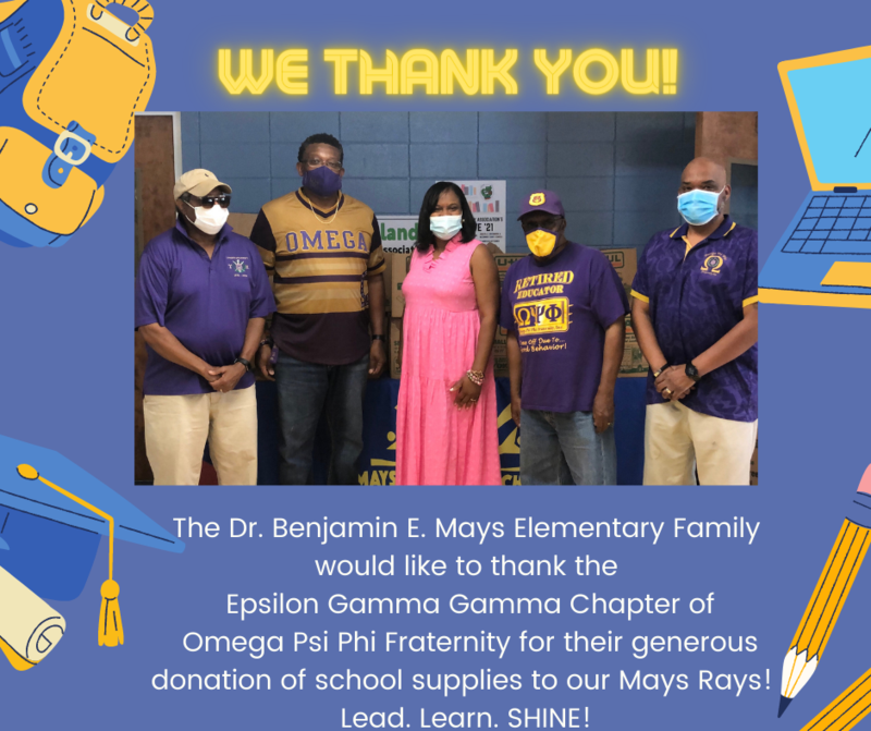 Thank you to the Omega Psi Phi Fraternity! Featured Photo