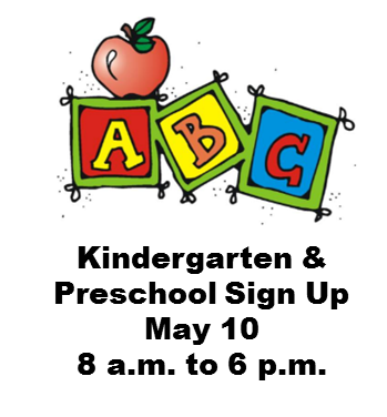 Preschool & Kindergarten Sign Up May 10 Thumbnail Image