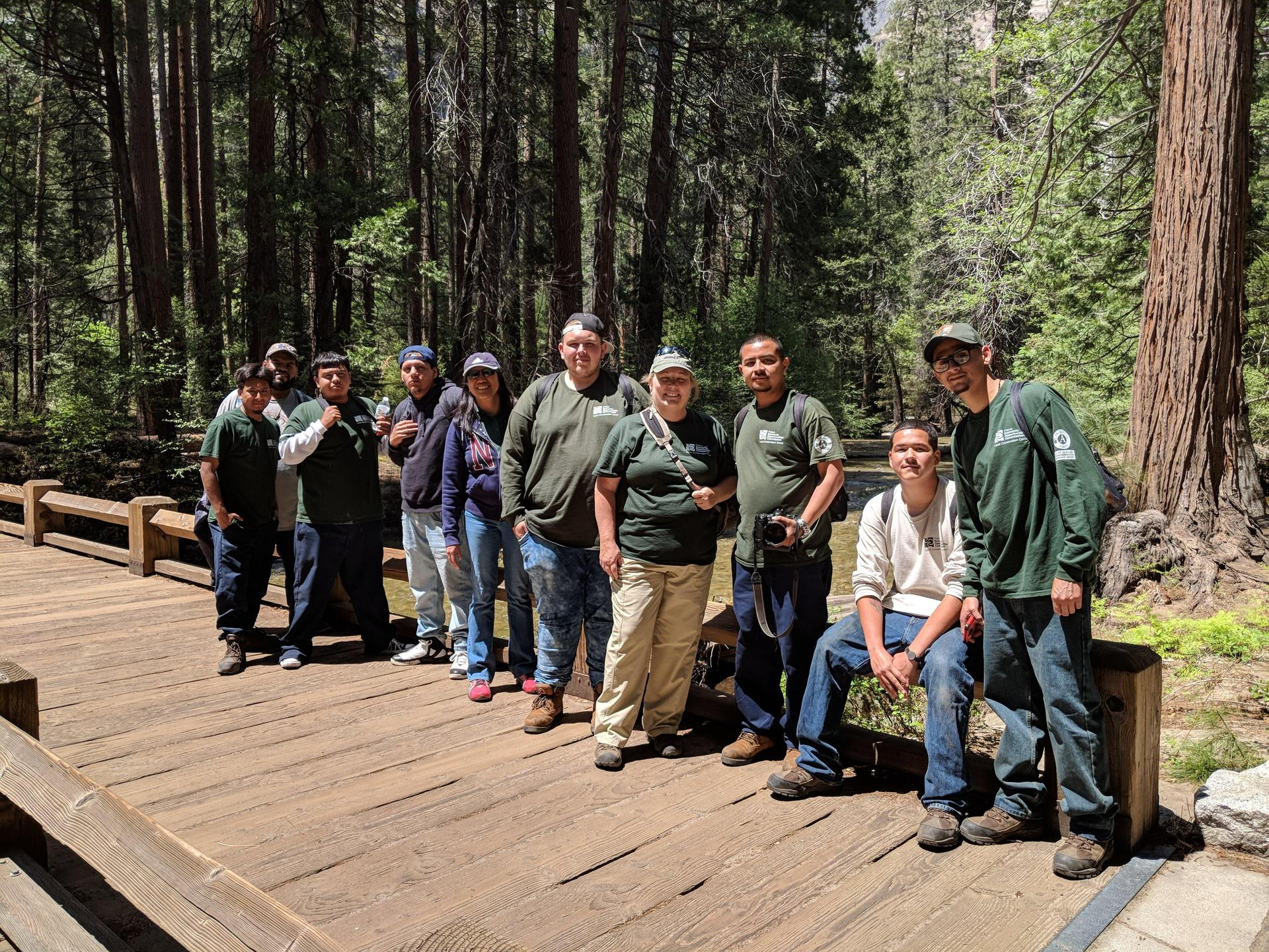 Fresno students at Yosemite National Park