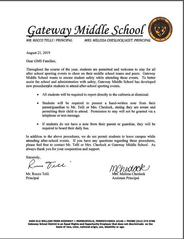 Middle School Students and District Events