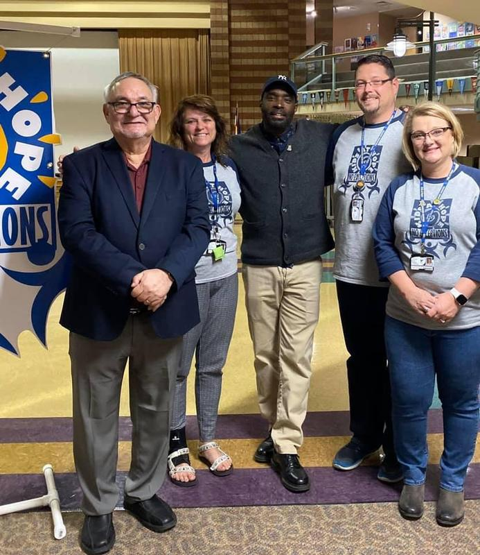 """We were honored to host Rick Miller from Kids at Hope and screenwriter and author Antwone Fisher who help us spread the message that """"All children are capable of success...NO EXCEPTIONS!"""""""