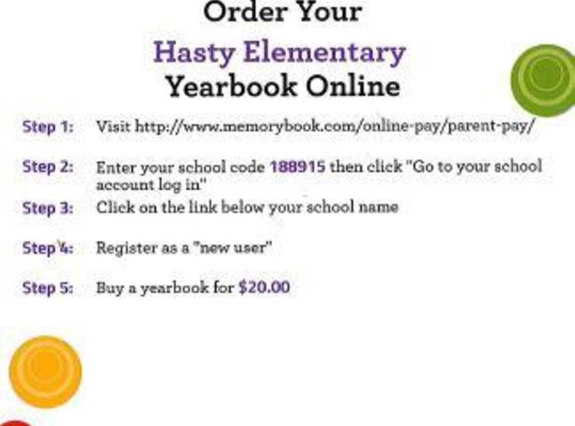 Yearbook sales are online