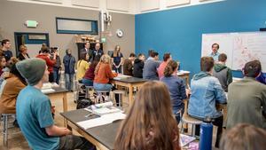 Mitchel Zais with CEC Students