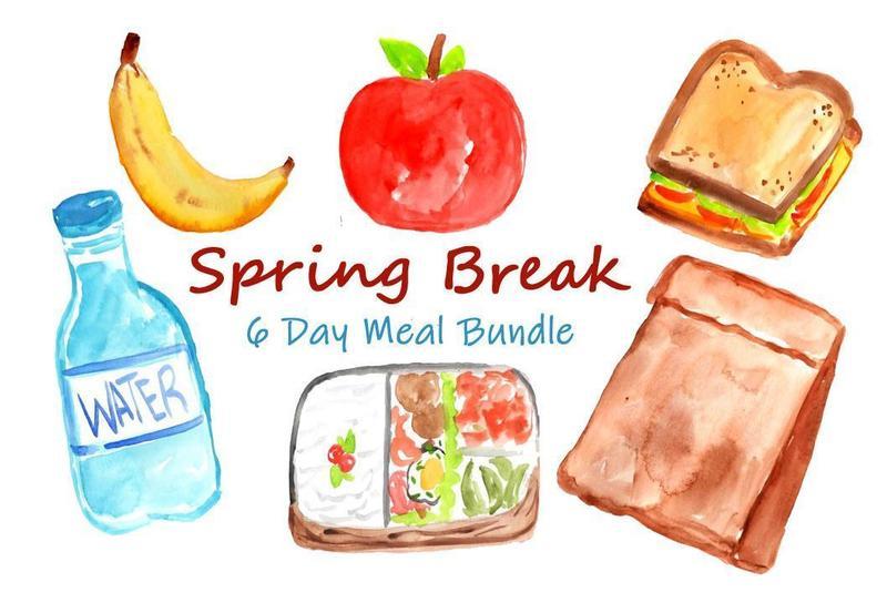 Image of banana, water, sandwich, lunch bag