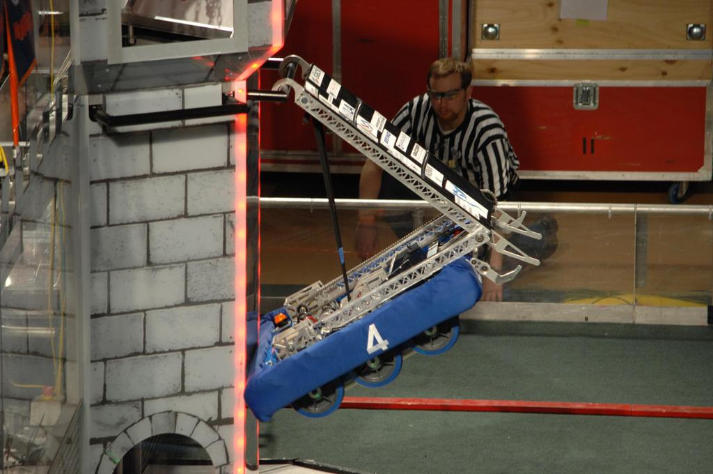 Robot climbing up Tower