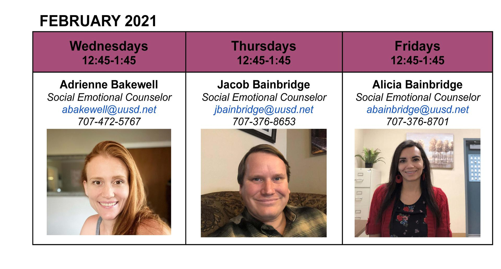 February Drop-in Counseling