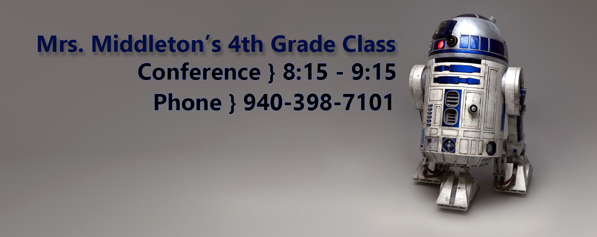 Middleton's Class - Conference 8:159:15 - Phone 940-398-7101