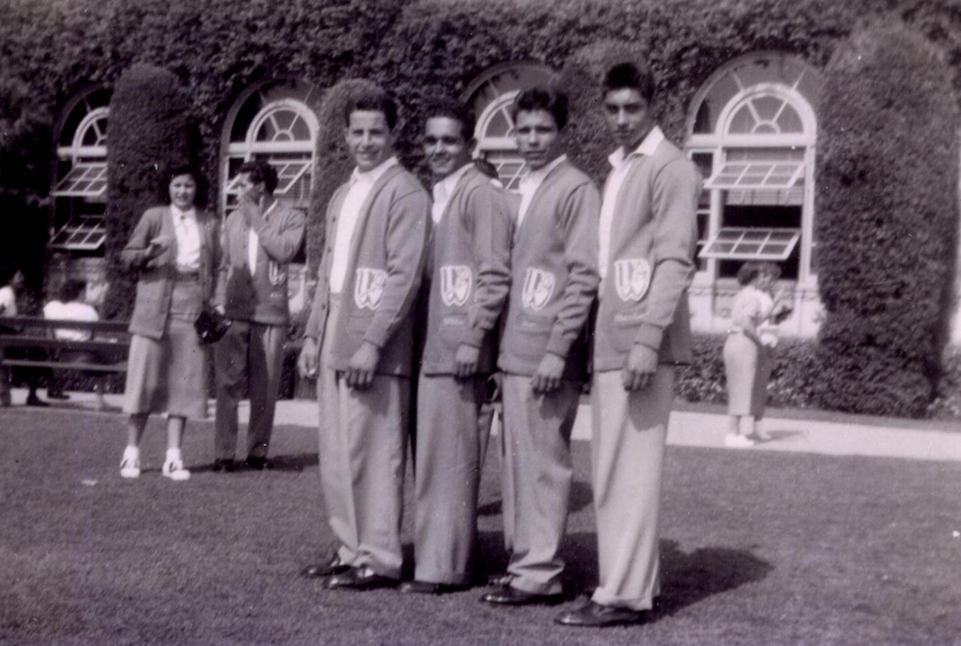 Manuel Rodriguez, William Cruz, Victor Loya and Charlie Mena, 1950