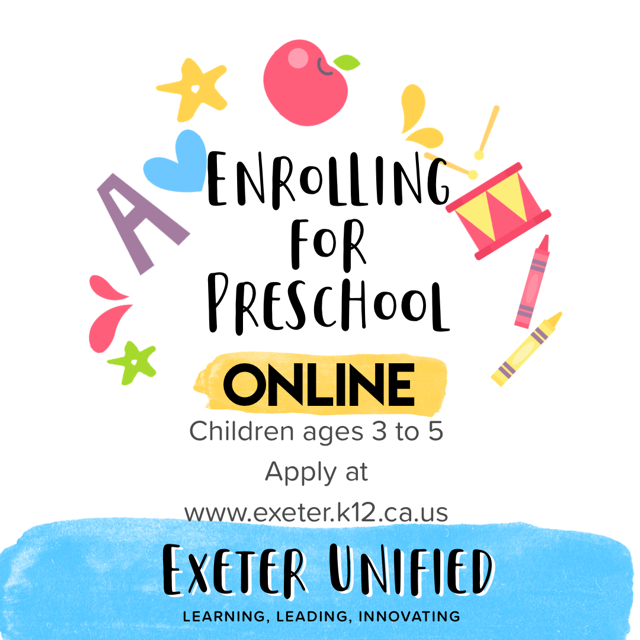 Enroll for preschool flyer 2020-2021 school year
