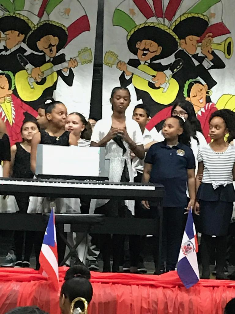 close up of students singing
