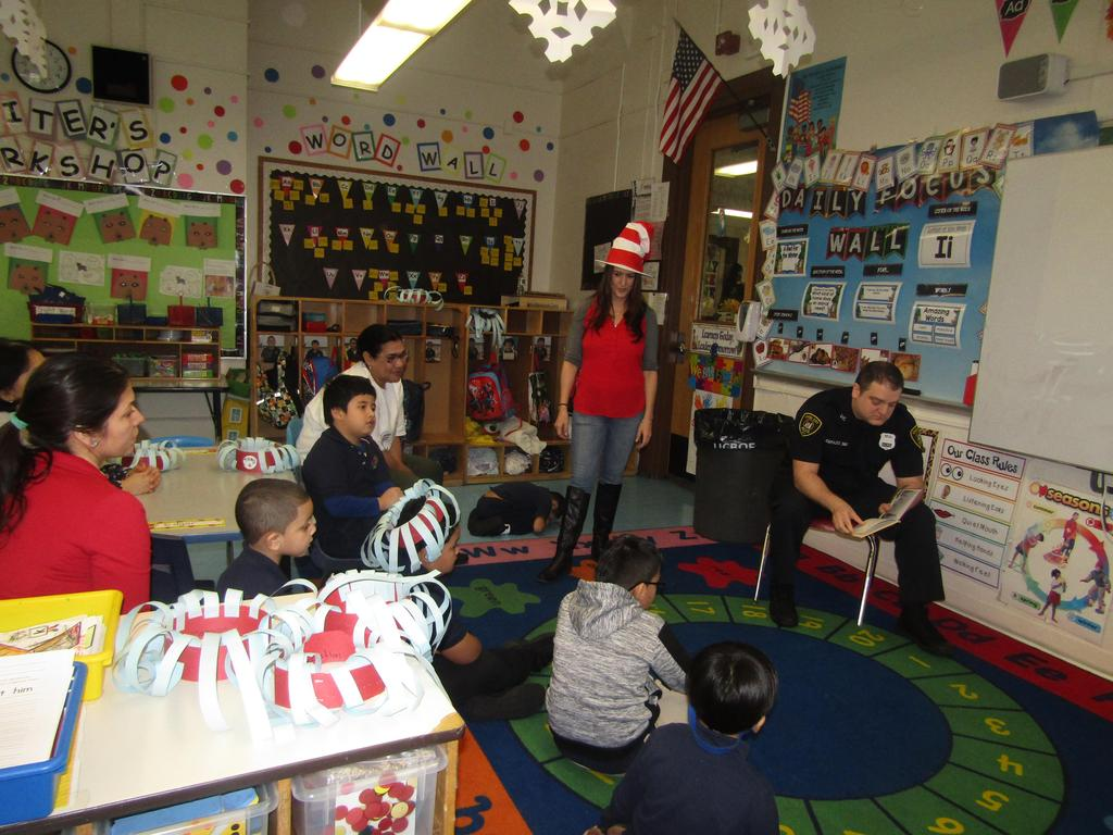 uc pd defazzio reading to the class