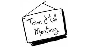 TOWN HALL MEETING SIGN