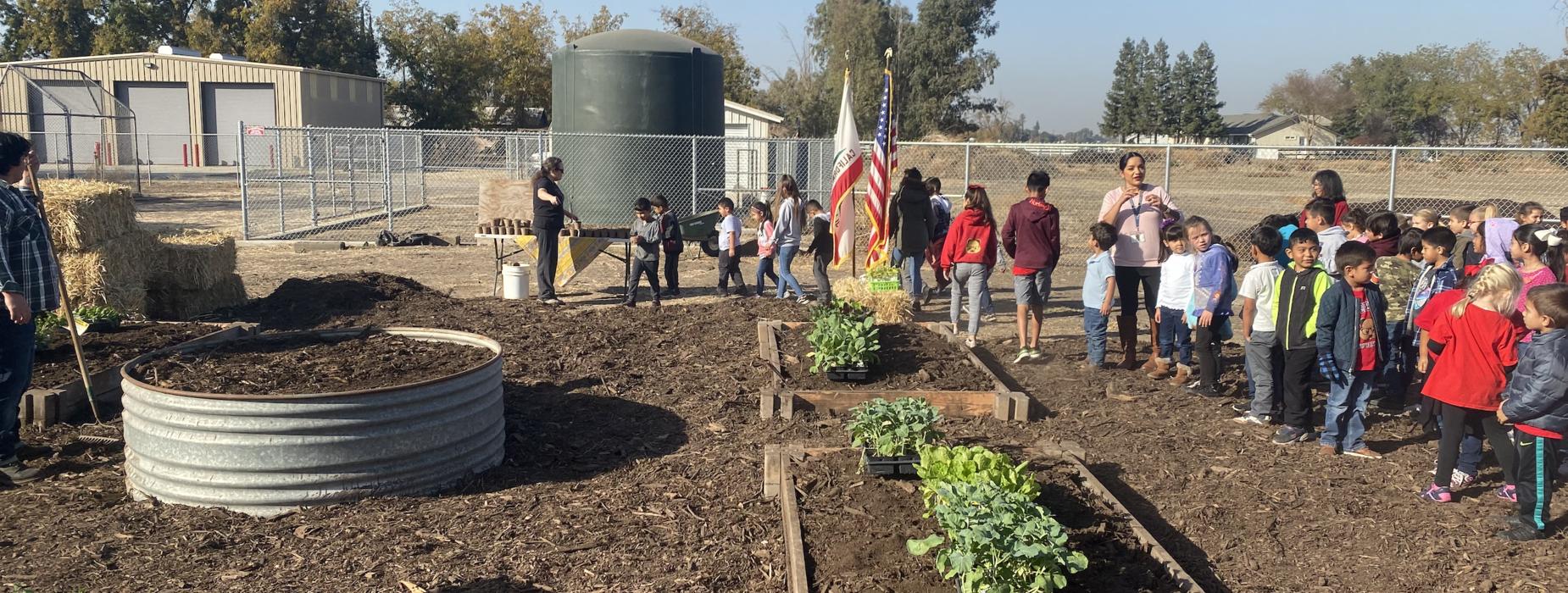 Groundbreaking ceremony for the Collegeville garden